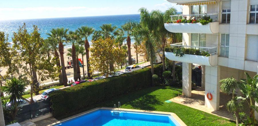 piso en alquiler 1ª linea de playa Marbella